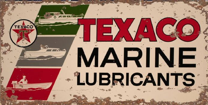 Texaco Marine Lubricants Boat -  Metal Wall Sign